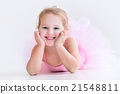 Little ballerina in pink tutu 21548811