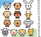 陸の動物セット キャラクター向け 21549109