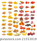 red yellow food collection isolated  21553019