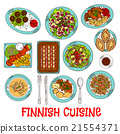 finnish, cuisine, vector 21554371