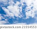 藍天天空雲彩春天天空背景材料3月 21554553