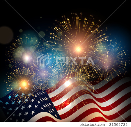 Stock Illustration: United States flag