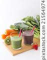 綠色的榨果汁 蔬菜汁 飲料 21564974