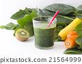 綠色的榨果汁 蔬菜汁 飲料 21564999