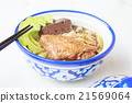 Noodle soup with chicken asia food 21569064