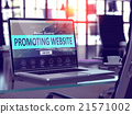 promoting, website, laptop 21571002
