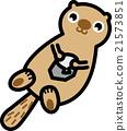 동물 바다 수달 캐릭터 21573851