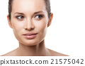 Beautiful face of woman with clean skin isolated 21575042