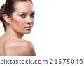 Beautiful face of woman with clean skin isolated 21575046