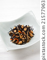 煮熟的海带 深色可食用海苔 炖 21577963