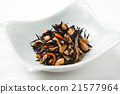 煮熟的海带 深色可食用海苔 炖 21577964