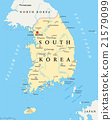 South Korea Political Map 21579099