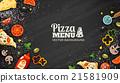 pizza ingredients vector 21581909