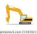 Illustration of excavator on white background 21583921