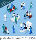 isometric, doctor, patient 21583956