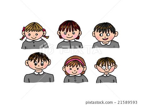 학교가 시작 스쿨 소년과 소녀 아이들 21589593