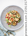Quinoa with grilled courgette salad 21591357