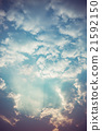 Sunlight with cloud on blue sky 21592150