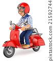 小型摩托车 三维 立体 21592744