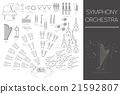 Musical instruments graphic template 21592807