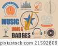 Musical instruments logos and badges 21592809