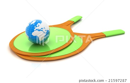 Rackets for playing table tennis and Earth 21597287