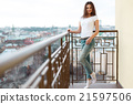 Young attractive woman wearing casual clothes 21597506