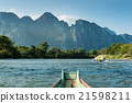 adventure on long-tailed boat in Song River 21598211