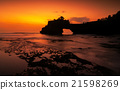 Tanah Lot temple in golden sunset, Bali, Indonesia 21598269