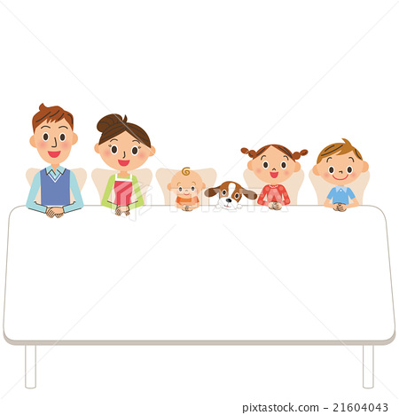 Families sitting at the table 21604043