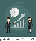 Businessman presenting with growth. 21607690