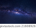 Beautiful milky way with stars on a night sky. 21608926
