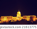 Chain bridge and royal palace in Budapest, Hungary 21613775