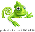 Cartoon Chameleon Pointing 21617434