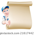 Thumbs up tradesman scroll 21617442