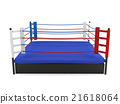 Boxing ring isolated on white background 21618064