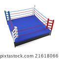 Boxing ring isolated on white background 21618066
