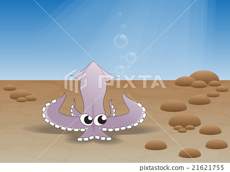 Fresh squid in the sea 21621755