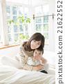 床 親子 父母和小孩 21622552