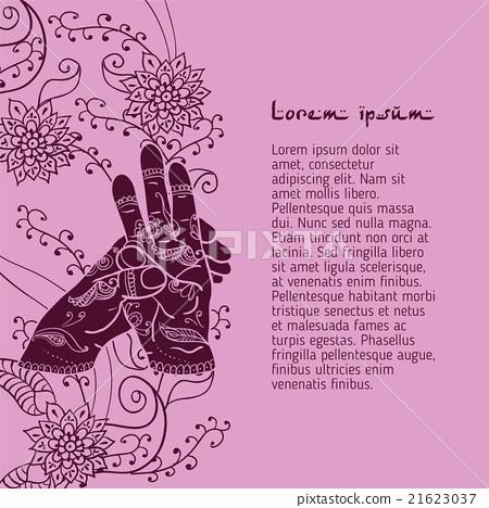 Element yoga varun mudra hands with mehendi 21623037