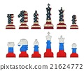 Chess pieces with USA flag and Russia flag 21624772