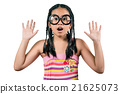 Close up of  a little amazing girl,Isolated  21625073