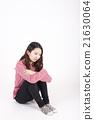 여성, 고민, 젊은 21630064