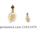 businessman and Coin 21631474