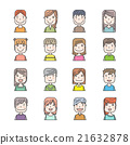 Young people avatar silhouette graphic design 21632878