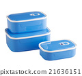 blue plastic food boxes 21636151