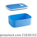 empty blue plastic food box 21636152