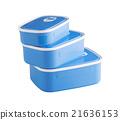Three plastic food boxes 21636153