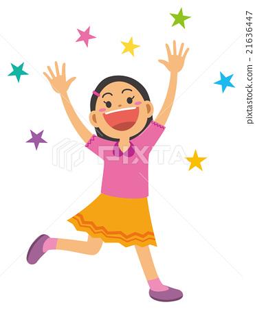 Elementary school girls happy 21636447