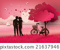 pink, silhouette, couple 21637946